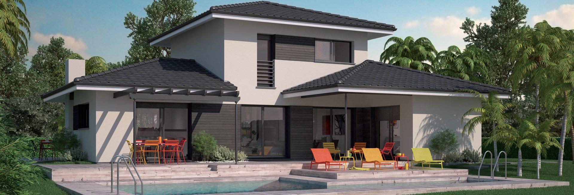 Constructeur maison louisiane gironde for Constructeur maison contemporaine gironde
