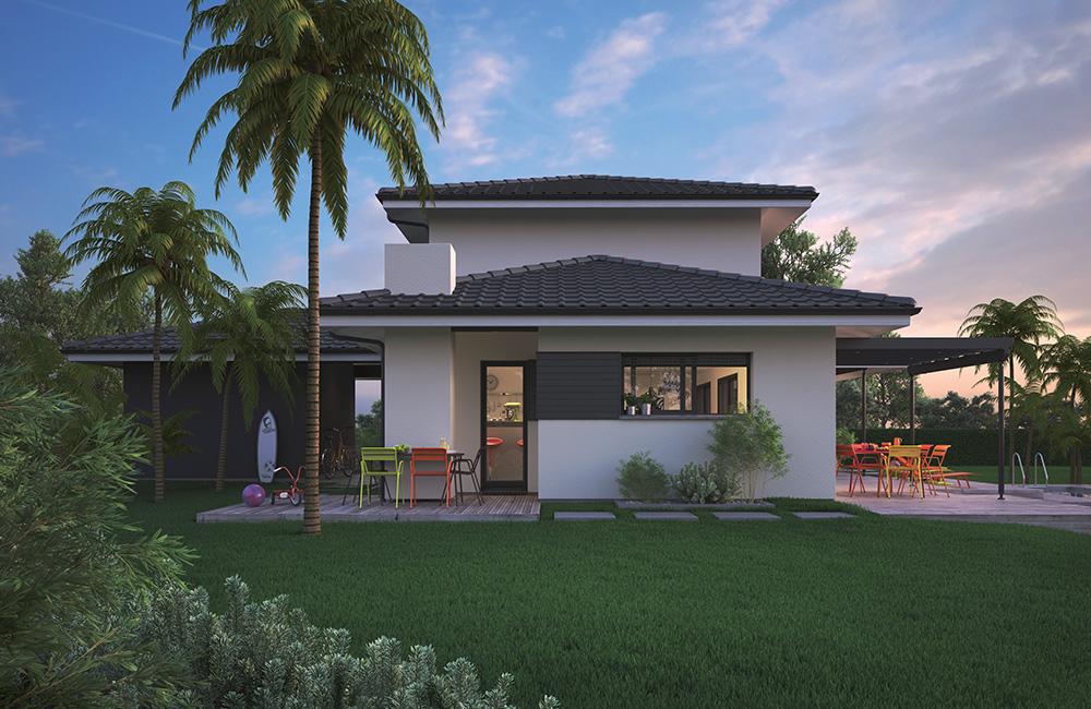 Mod le de maison villa florida for Maison moderne reunion