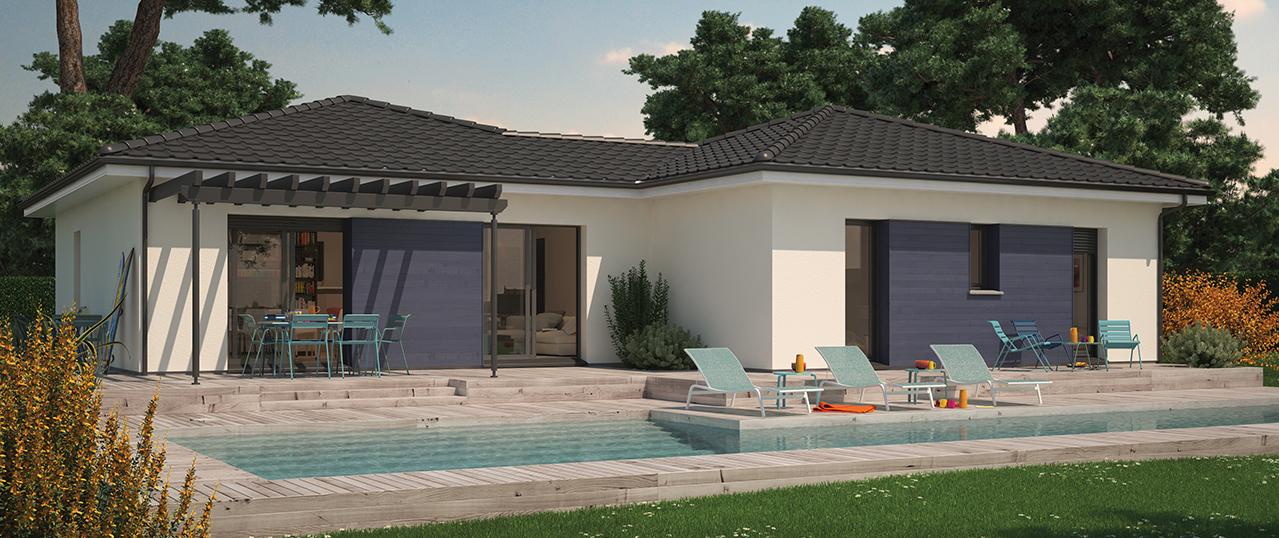 Villa hortense with modele villa for Modele maison ganova