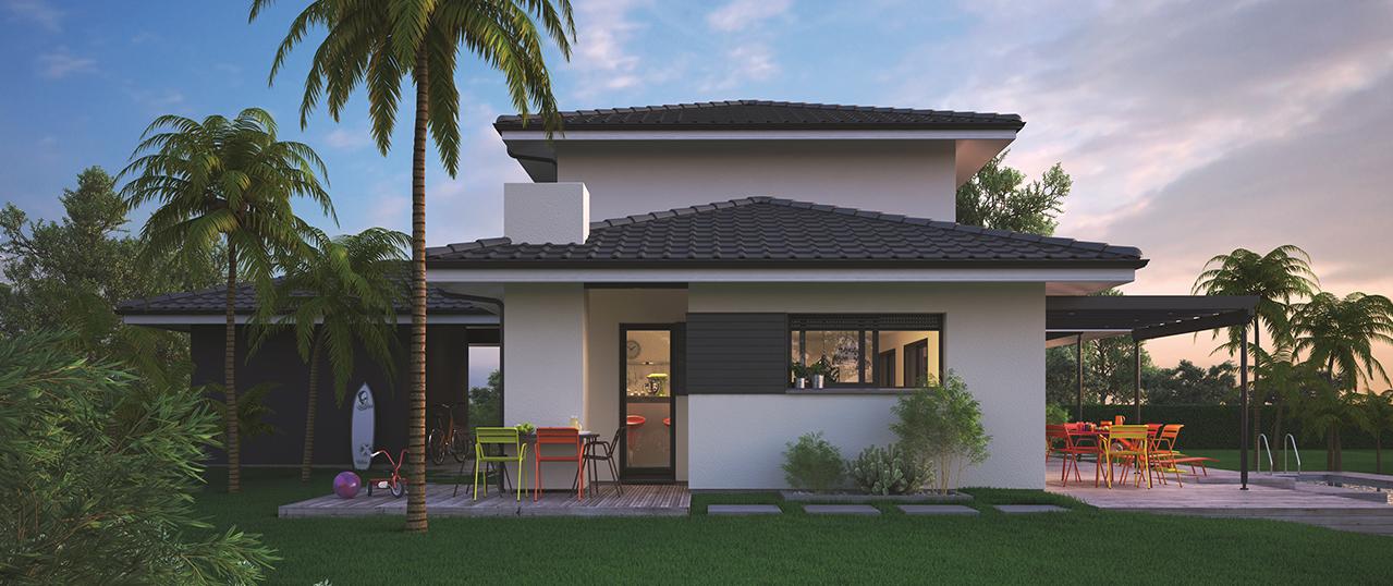Mod le de maison villa florida for Modele villa