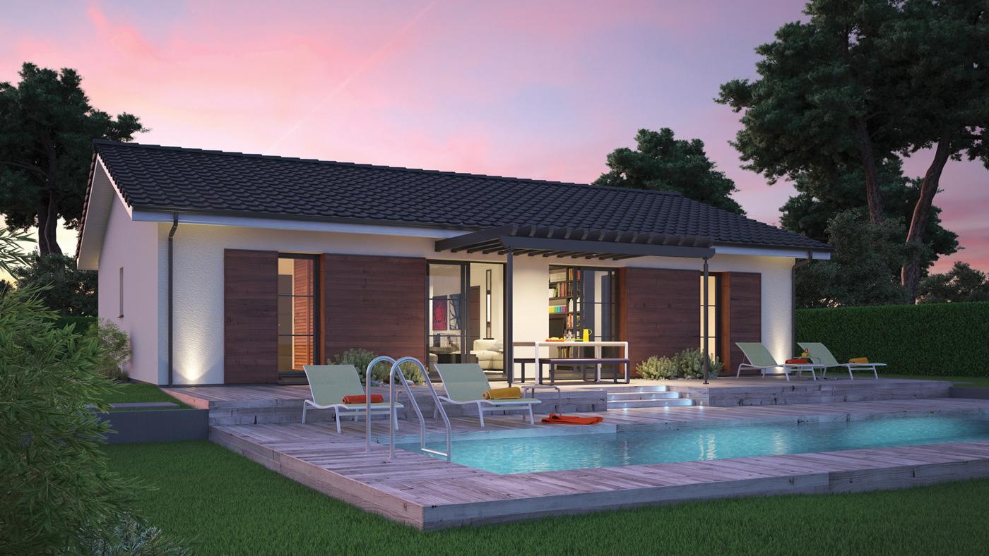Mod le de maison villa rosa for Modele de villa