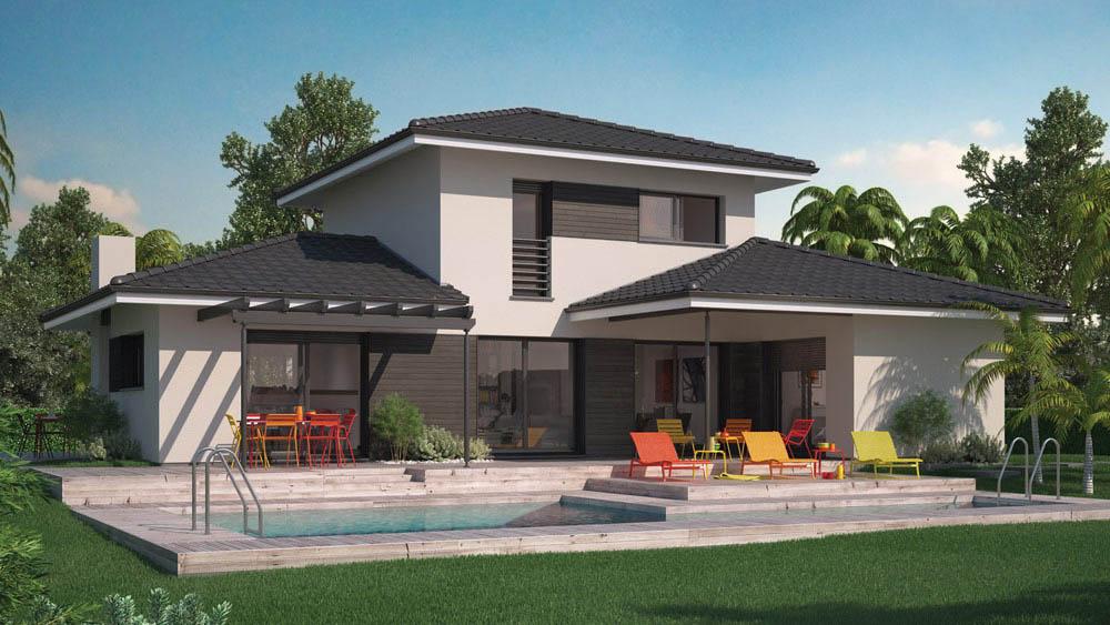 Mod le de maison villa florida for Photo de plan de maison