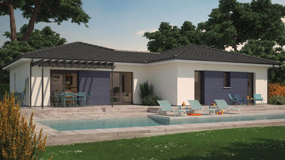 Mod le de maison villa hortense for Style de maison moderne plain pied
