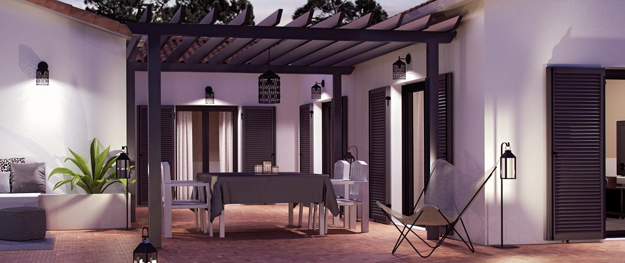 plan de maison avec un patio