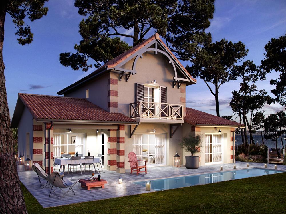 Modele Villa. Model Facade Villa Moderne Mc Immo Modele De Facade